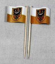 Party-Picker Niederschlesien 50 Dekopicker Profiqualität Papierfähnchen Flagge