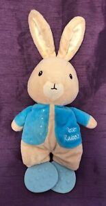 "Beatrix Potter PETER RABBIT Rattle 8"" Plush Teether Crinkle Stuffed Baby Toy"