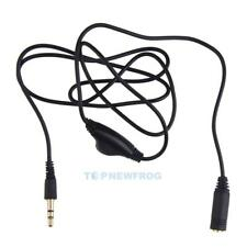 Earphone in Line Volume Control Cable Male to F 3.5mm Stereo Audio Adaptor TN2F
