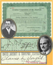 Juan Trippe signed Aviation Corporation of the Americas