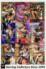 1996 Dynamic Rugby League Series1 Booster Base Team Set Wests Reds (15)