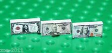 Lego 3x White Tile 1x2 Custom Printed Dollar Banknotes $1, $50, $100 Design NEW