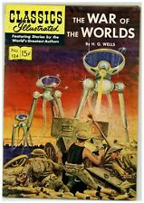 Classics Illustrated 124 (Nice) The War of the Worlds; Gilberton; 1955 (j#2022)