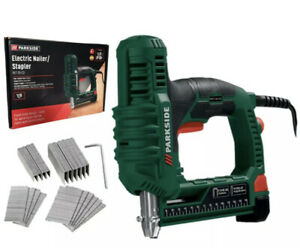 Parkside Electric Nailer Stapler PET 25 C3 30BPM With 500 Staples And 500 Nails