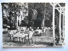 """CPSM """"Rabastens - Hostellerie du pré vert - Restaurant d'été dans le parc"""""""