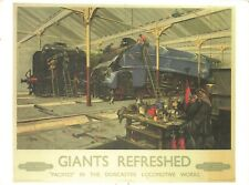 Vintage Repro Travel Poster Postcard, Giants Refreshed, British Railways JH0