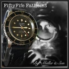 Müller&Son Seiko 5 Automatic Watch SNZH57 FFF Fifty Five Fathoms Gold Mod 2