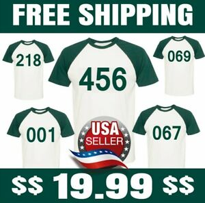Squid Game ORIGINAL REPLICA  PICK YOUR OWN NUMBER NO EXTRA CHARGE Unisex SHIRT