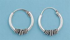 """BABY FREE SHIP! Bali Hoop .925 Sterling Silver Earrings .5"""""""