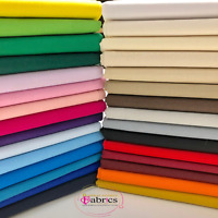 Plain 100% Cotton Fabric Material Fat Quarters Quilting Metre 30 Colours 60 Inch