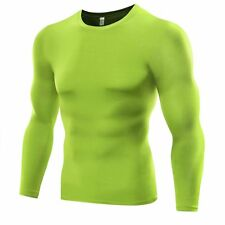 Compression Base layer Body Armour Thermal Under Skin T-Shirt Tight Gear Top Men
