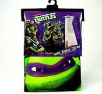 "nickelodeon TMNT Ninja Turtles Fabric Shower Curtain Kids Bathroom Decor 70""x72"""