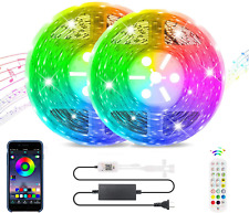 Led Strip Lights Works With Bluetooth, Remote,16 Million Colors Phone App Contro
