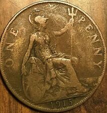 1915 UK GB GREAT BRITAIN ONE PENNY