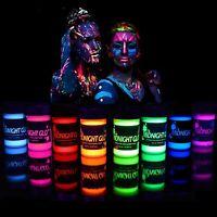 Midnight Glo UV Body Paint Black Light Paint Blacklight Reactive Neon Face Paint