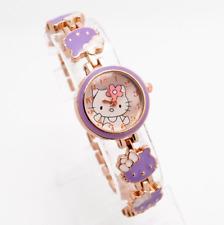 Nuevo Reloj De Hello Kitty Niñas Mujeres Relojes a Cuarzo para Niños de color lavanda