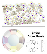 Genuine SWAROVSKI 2000 Foiled Rose Flat Back Crystals Rhinestones Nail Art