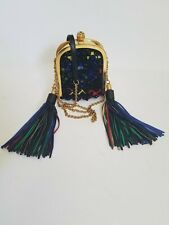 Alexander McQueen tassel skull clutch with 3D multicolor bead embroidery