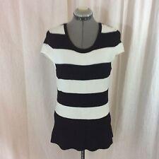 White House/Black Market Short Sleeve Rayon/Nylon Knit Top Size S
