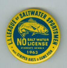 1963 League Saltwater Sportsman, No Salt Water License Striped Bass, Long Island