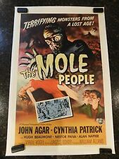 "THE MOLE PEOPLE Original 1956 Movie Poster, 27"" x 41"", C8.5 Very Fine/Near Mint"