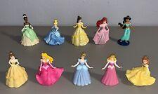 Lot of 10 Disney Princess PVC Figures Cake Toppers Belle Cinderella Jasmine