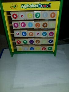Crayola Alphabet Board, Two sided, flip, age 2+, made of wood, interesting, neat