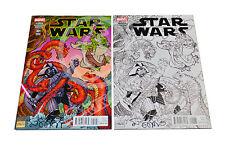 MARVEL STAR WARS #1 Stan Sakai EXCLUSIVE Variant Set SIGNED BY STAN SAKAI + COA