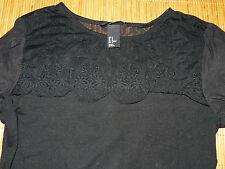 H&M Kurzarm Damen-Shirts ohne Muster