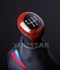 US Seller Old School Look Elegant Manual Gear Knob for BMW 5 Speed BURL WOOD
