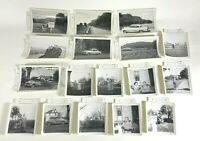 17 vtg 1950's B&W family photos cars Buffalo county Wisconsin sign cowboy kid