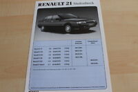 142365) Renault R 21 Lim. - Preise & Extras - Prospekt 11/1989