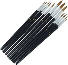 Am-Tech 12pc Pointed Tip Artist Paint Brush Set - S4120