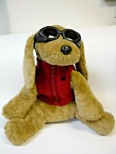 """AE Performance American Eagle 14"""" Plush Dog Wearing Goggles And Red Vest"""