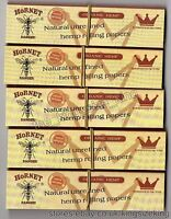 Hornet King Size Slim Organic Hemp Rolling Papers With Tips Connoisseur (x5)