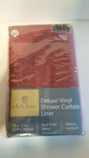 Deluxe Vinyl Shower Curtain Liner, Whole Home, in original box (IOB)
