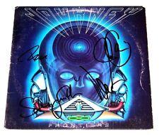 JOURNEY BAND SIGNED 'FRONTIERS' VINYL ALBUM COVER x4 COA NEAL SCHON STEVE SMITH