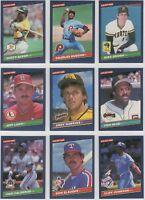 1986 Donruss Leaf Baseball Team Sets **Pick Your Team**