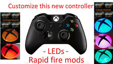 Pick your New Xbox One Wireless Controller with LEDs and/orRapid Fire 1697 Black