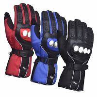 Motorcycle Motorbike Waterproof Gloves Steel Knuckle Polar Force Leather Gloves