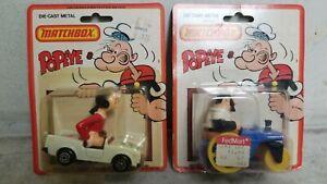 Matchbox Popeye's Olive Oil Bluto Die-Cast Metal Car 1980 King 2 Cars