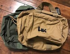 Heckler Koch BROWN Multi-Purpose Soft Range Gym Bag Case P30 USP HK45 MP5 P7 VP9