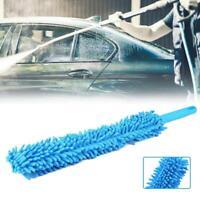 1* Long Soft Flexible Microfiber Cleaning Brush Car Wash Tool Wheel Cleaner Blue