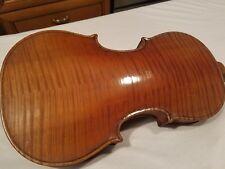 Antique Violin Vintage Old Instrument With GSB Case Flamed Tiger Wood 1900s