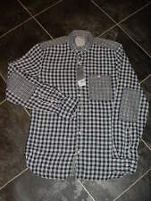 MENS BURTON BLACK & WHITE CHECK SHIRT SIZE S
