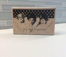 Angel Trio Wood Mounted Rubber Stamp Stampington Happiness Joy Christine Adolph