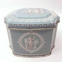 Classical Greek Style Sea Foam Green Collectible Tin w/ Relief Made in England