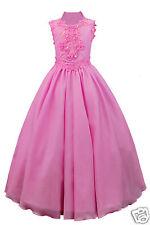 Girl Pageant Wedding Flower Girl Party Formal Dress Fuchsia 3,4,5,6,7,8,10 12 14