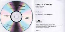 CRYSTAL CASTLES AFFECTION RARE 2 TRACK DJ PROMO CD [TARANTULA X REMIX]