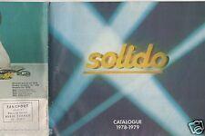 CATALOGUE SOLIDO 1978-1979 COMPETITION TOURISME TONERGAM MILITAIRE AGE D'OR d